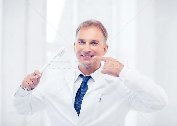 歯科 歯ブラシ 病院 医療 医療 男 ストックフォト © dolgachov