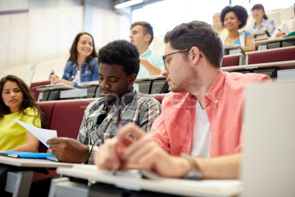 グループ 国際 学生 講義 ホール 教育 ストックフォト © dolgachov