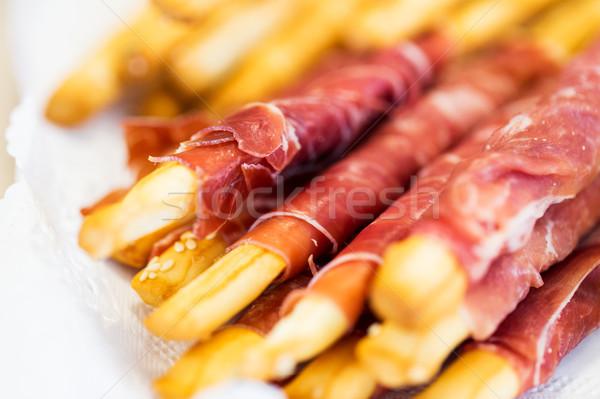 Stok fotoğraf: Ekmek · prosciutto · gıda · catering · pişirme