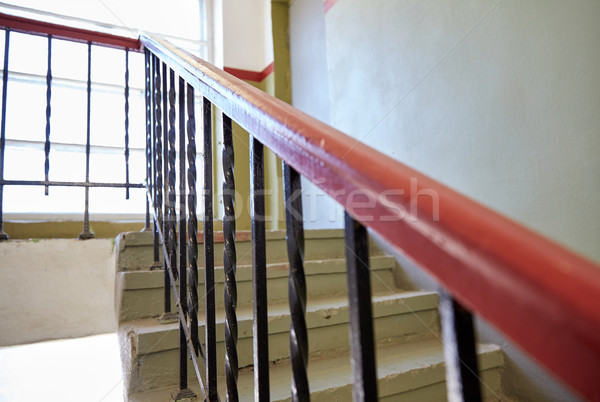 stair railings on staircase at living house Stock photo © dolgachov
