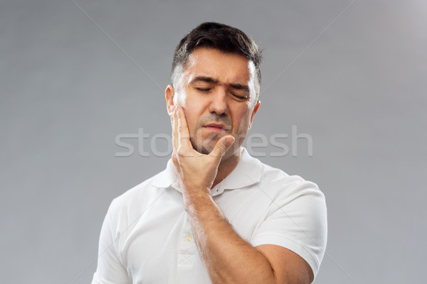 Сток-фото: несчастный · человека · страдание · зубная · боль · люди · здравоохранения