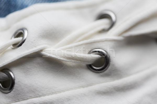 close up of lacing on clothing item Stock photo © dolgachov