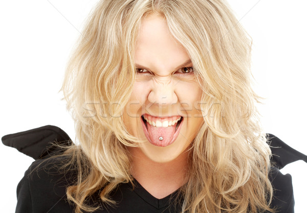 crazy angel Stock photo © dolgachov