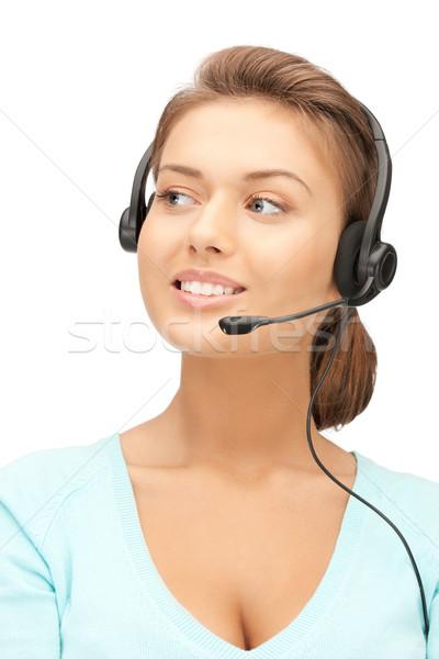 телефон доверия ярко фотография дружественный женщины оператор Сток-фото © dolgachov
