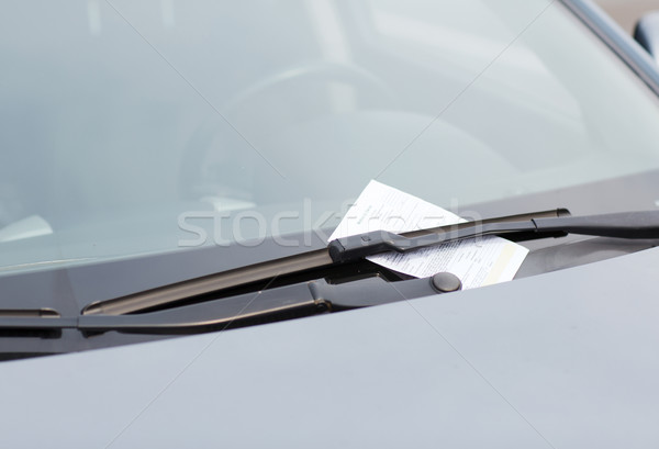 parking ticket on car windscreen Stock photo © dolgachov