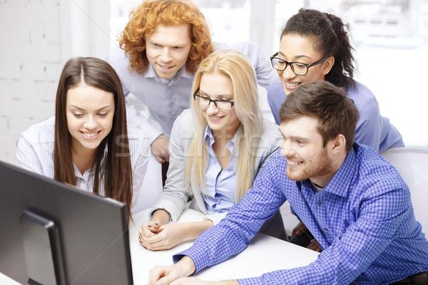 Stockfoto: Glimlachend · business · team · naar · business · kantoor