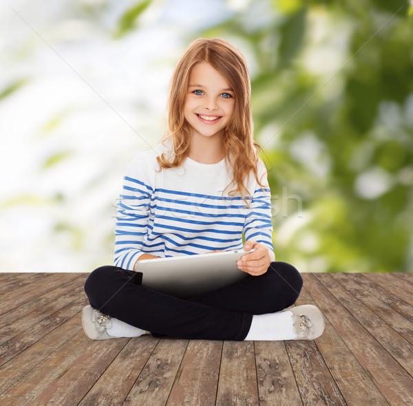 Feliz pequeno estudante menina educação Foto stock © dolgachov