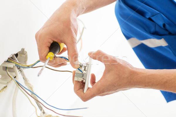 Mani cacciavite presa riparazione Foto d'archivio © dolgachov