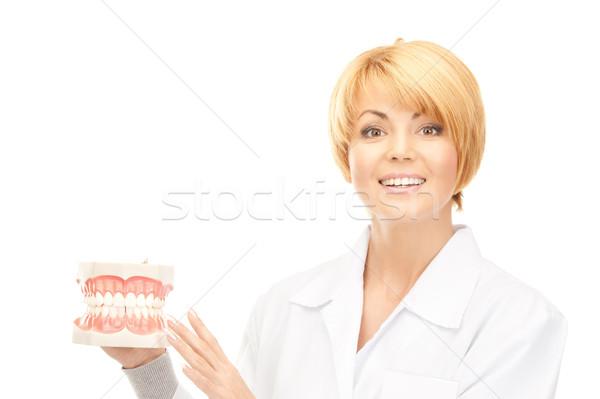 Médico quadro mulher atraente mulher medicina dentista Foto stock © dolgachov