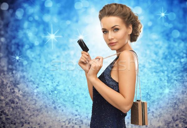красивая женщина вечернее платье vip карт люди роскошь Сток-фото © dolgachov