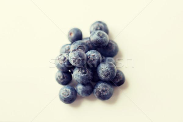 Succosa fresche maturo mirtilli bianco frutti Foto d'archivio © dolgachov