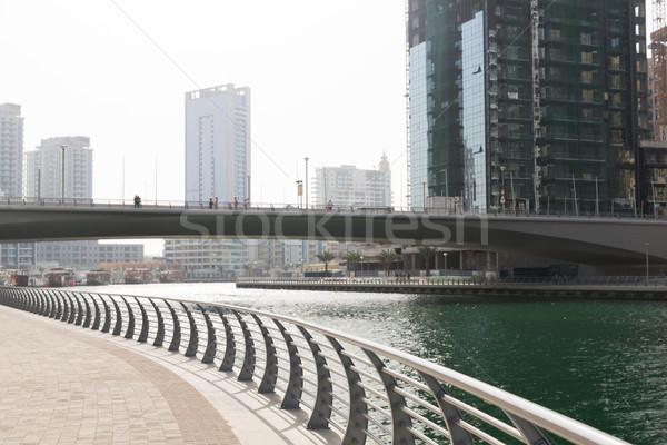 Dubai stad centrum wolkenkrabbers brug stadsgezicht Stockfoto © dolgachov