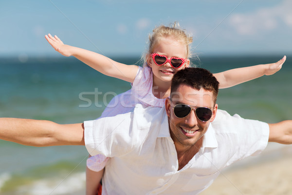 Glückliche Familie Sommer Strand Familie Reise Stock foto © dolgachov