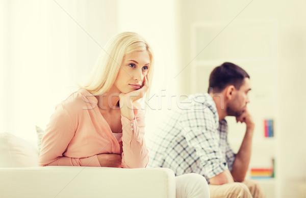 Ongelukkig paar argument home mensen relatie Stockfoto © dolgachov