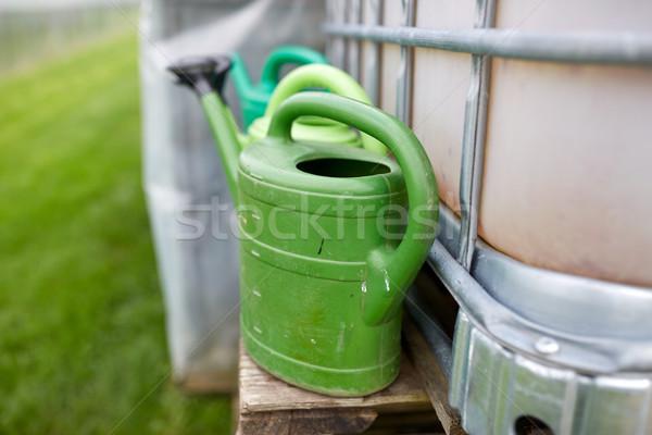 Fazenda água tanque jardinagem Foto stock © dolgachov