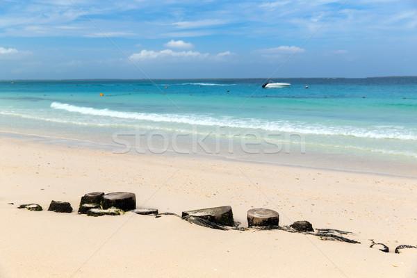 Zee hemel exotisch tropisch strand reizen toerisme Stockfoto © dolgachov