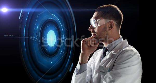 科学 ゴーグル 見える バーチャル 投影 技術 ストックフォト © dolgachov