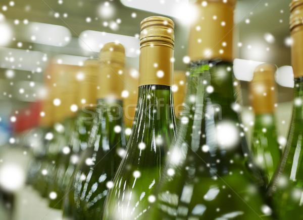 close up of bottles at liquor store Stock photo © dolgachov