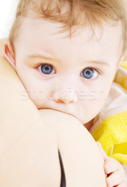 Borstvoeding foto baby jongen moeder borst Stockfoto © dolgachov
