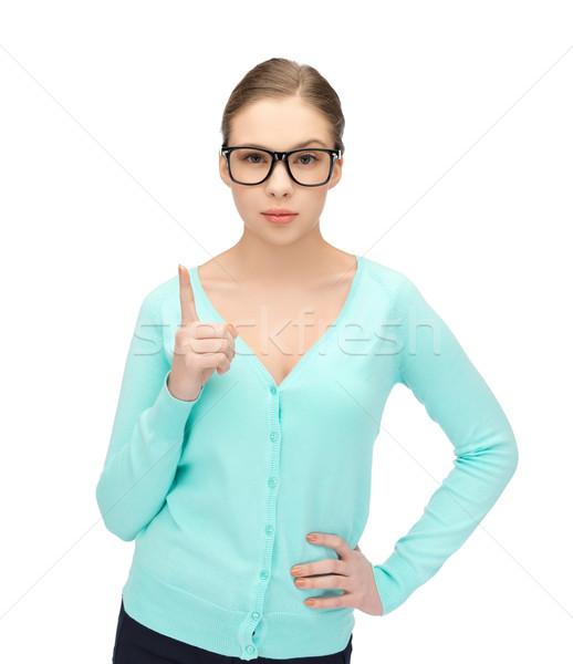 girl showing warning gesture Stock photo © dolgachov