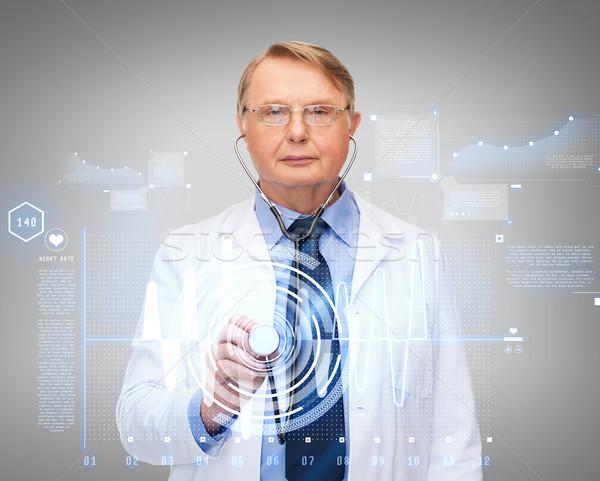 врач профессор стетоскоп здравоохранения медицина Сток-фото © dolgachov