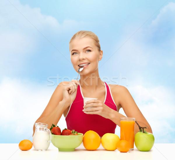 Mangiare sano colazione fitness dieta salute Foto d'archivio © dolgachov