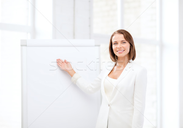 笑みを浮かべて 女性実業家 メモ帳 ビジネス 教育 ストックフォト © dolgachov