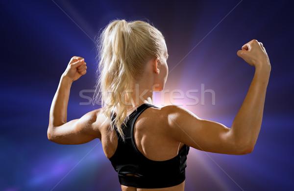 Mulher de volta bíceps fitness esportes Foto stock © dolgachov