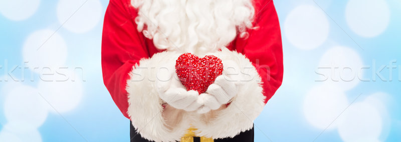 Forme de coeur Noël vacances amour Photo stock © dolgachov