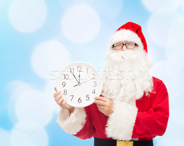 Photo stock: Homme · costume · horloge · Noël · vacances