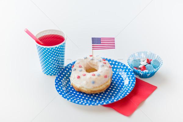 Pączek soku dzień amerykański uroczystości Zdjęcia stock © dolgachov