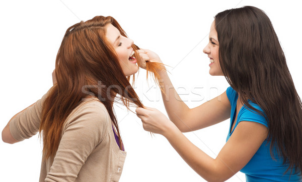 two teenagers having a fight and getting physical Stock photo © dolgachov