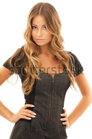 Vrouw heldere foto witte haren jonge Stockfoto © dolgachov