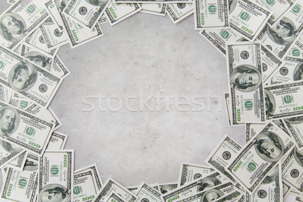 close up of dollar money over concrete background Stock photo © dolgachov