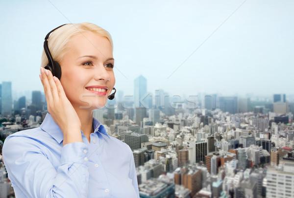 ヘルプライン 演算子 ヘッド 市 ビジネスの方々  技術 ストックフォト © dolgachov