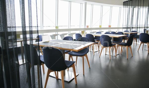 Restaurant intérieur chaises design public lieu Photo stock © dolgachov