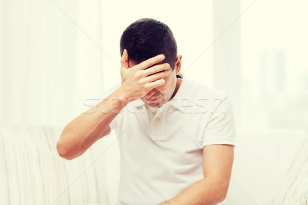 несчастный человека страдание голову боль домой Сток-фото © dolgachov