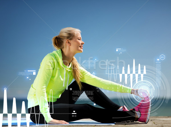 Stock photo: woman doing sports outdoors