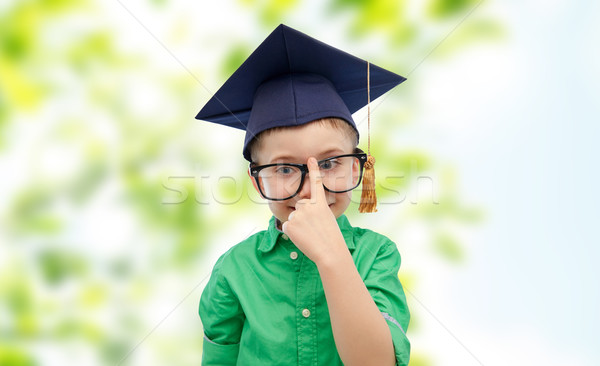 Bachelor hat Kindheit Schule Stock foto © dolgachov