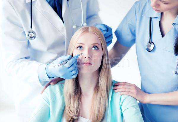 Zdjęcia stock: Plastikowe · chirurg · pielęgniarki · pacjenta · opieki · zdrowotnej · medycznych