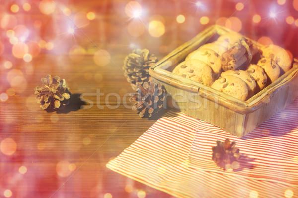 Stock fotó: Közelkép · karácsony · zab · sütik · fa · asztal · sütés