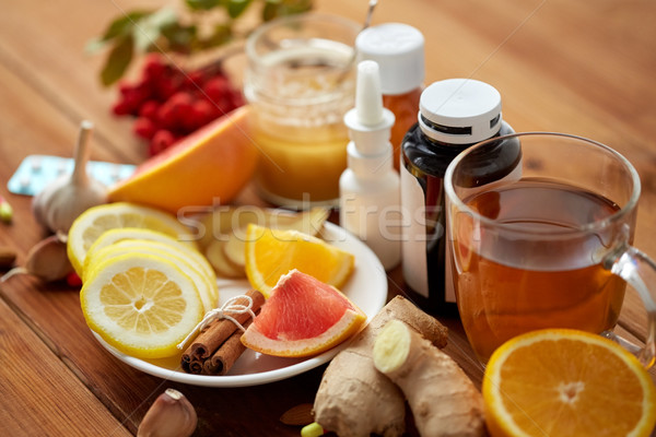 traditional medicine and synthetic drugs Stock photo © dolgachov
