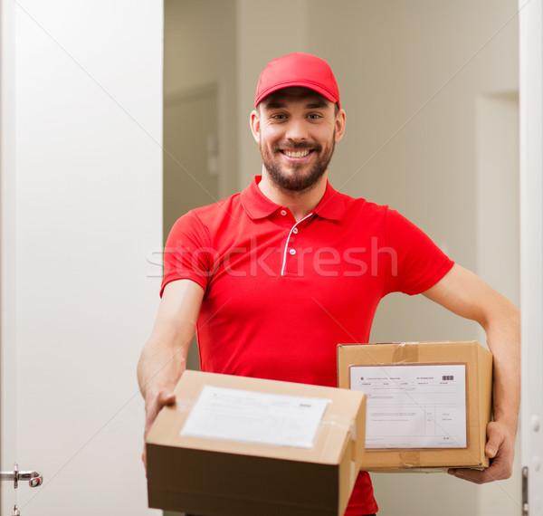 Dozen klant deur levering Stockfoto © dolgachov