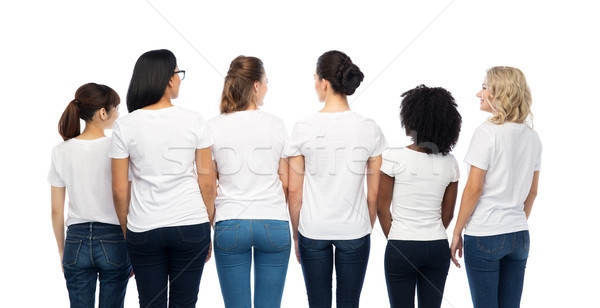 Internacional grupo mulheres de volta diversidade raça Foto stock © dolgachov