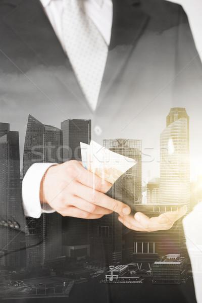 ビジネスマン ユーロ お金 ウォレット ビジネス ストックフォト © dolgachov