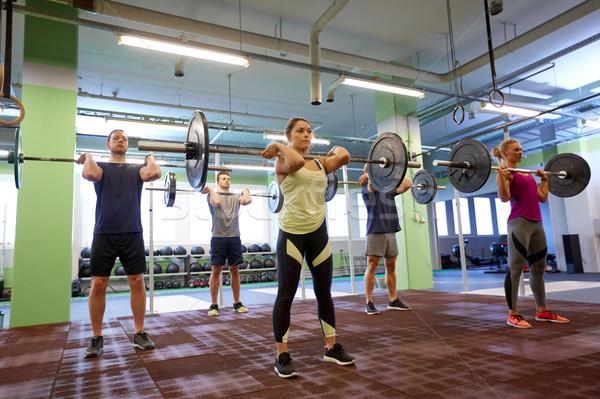Stok fotoğraf: Grup · insanlar · eğitim · spor · salonu · uygunluk · spor · egzersiz