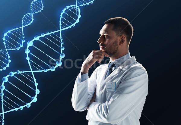 Orvos tudós fehér kabát DNS tudomány Stock fotó © dolgachov