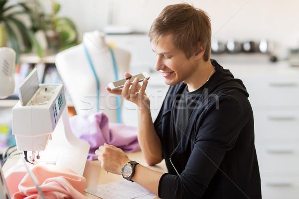 моде дизайнера смартфон рабочих студию люди Сток-фото © dolgachov