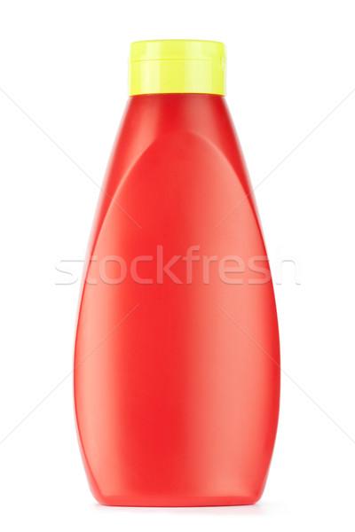 Ketchup fles voedsel glas eten witte Stockfoto © donatas1205