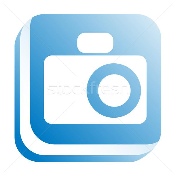 Web simgesi Internet dizayn web mavi fotoğraf Stok fotoğraf © donatas1205